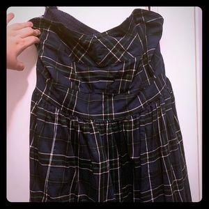 Lovesick/Torrid strapless plaid mini dress